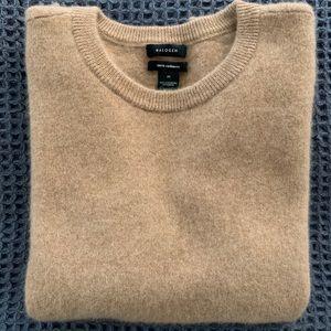 Halogen Cashmere Sweater - Camel, Size Medium